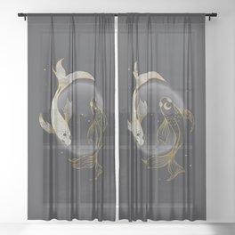 Fade Away - Illustration Sheer Curtain