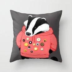 Badgest Throw Pillow