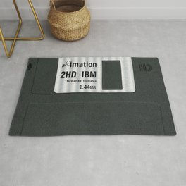 Retro 80's objects - Diskette Rug