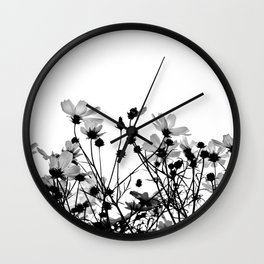 COSMOS - BW Wall Clock