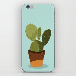 Orange Pot Cactus iPhone Skin