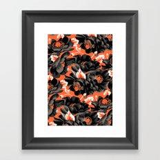 Mount Cook Lily - Orange/Black Framed Art Print