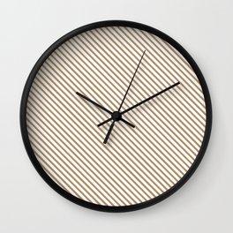 Iced Coffee Stripe Wall Clock