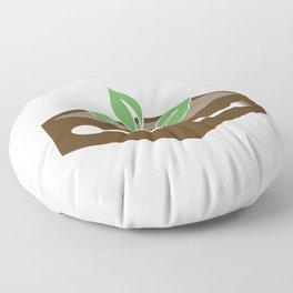 Box of vegan food Floor Pillow