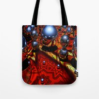 guardians Tote Bags featuring Guardians by Robin Curtiss