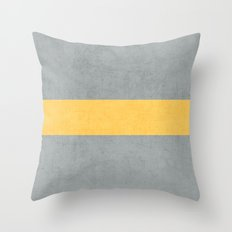 gray and yellow classic Throw Pillow