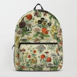 Adolphe Millot- Vintage Flowers Print Backpack