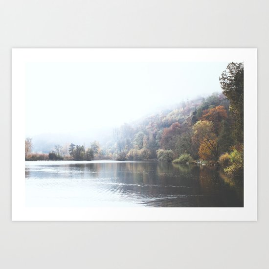 Swiss Lake Art Print
