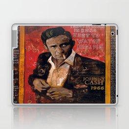 Red Johnny Cash Laptop & iPad Skin