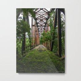 Abandoned Train Bridge Metal Print