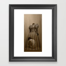 The cage / La cage Framed Art Print