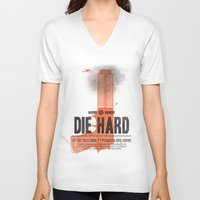 die hard V-neck T-shirts featuring Die Hard (Full poster variant) by aWharton