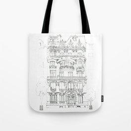 the face of Paris Tote Bag