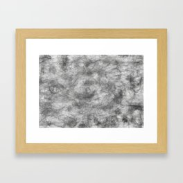 white / black smoke/ nicotine addiction Framed Art Print
