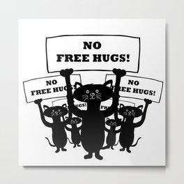 Cats Protest Metal Print
