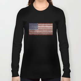USA flag, High Quality retro style Long Sleeve T-shirt