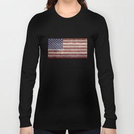 USA flag, retro style Long Sleeve T-shirt