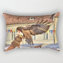 Falcon Landing on Falconer's Gauntlet Rectangular Pillow