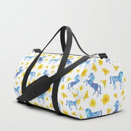 Blue horse love Duffle Bag