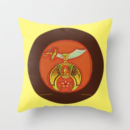 Shriner Red Bubble Throw Pillow
