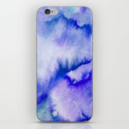 Watercolor texture - electric blue iPhone Skin