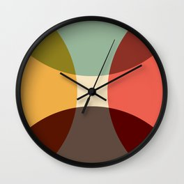Abstract Retro Flower Wall Clock