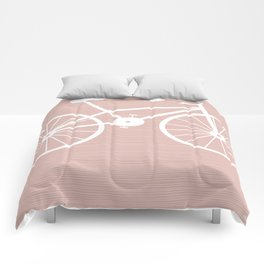 Pink Bike by Friztin Comforters