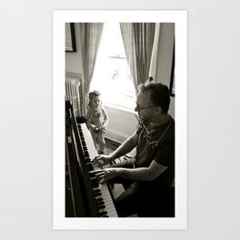 Piano Man Art Print