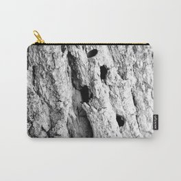 Black and White Tree Bark Carry-All Pouch