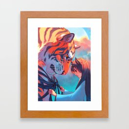 Tangled Tiger Framed Art Print