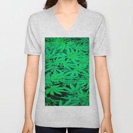 Marijuana Unisex V-Neck