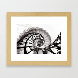 A staircase in St Stephens Basilica Budapest Framed Art Print