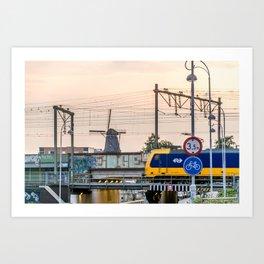 Sunrise Commute Art Print