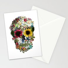 Skull flower Stationery Cards