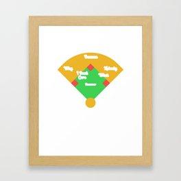 Who's on First? Baseball Diamond Fielding Card Framed Art Print