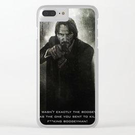 John Wick Clear iPhone Case