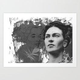 Tribute to Frida Kahlo #24 Art Print