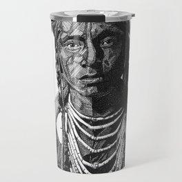NATIVE AMERICAN CROW WARRIOR Travel Mug