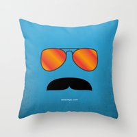 tom selleck Throw Pillows featuring MAGNUM (Tom Selleck) by Alberto Lamote de Grignon