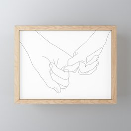 Pinky Promise Framed Mini Art Print