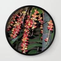 indonesia Wall Clocks featuring coffee plant (Bali, Indonesia) by Christian Haberäcker - acryl abstract