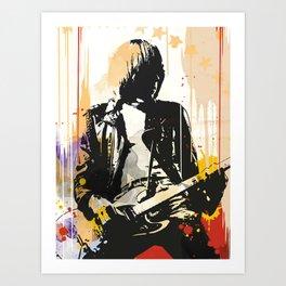 The Ramones Johnny art Art Print