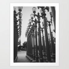 Streetlight Art Exhibit Art Print