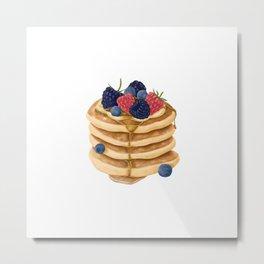 Sweet Pancakes with Berries Metal Print