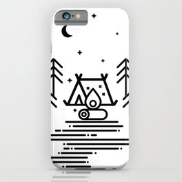 Camping in the Great Outdoors / Geometric / Nature / Camping Shirt / Outdoorsy iPhone Case