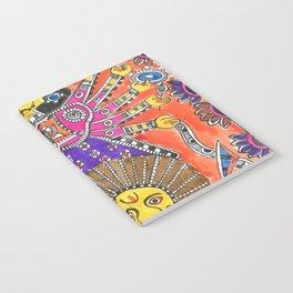 Madhubani - Orange Durga Notebook