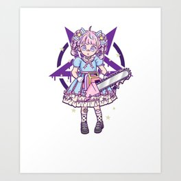 Cute But Psycho I Japanese Anime Girl I Pastel Goth product Art Print