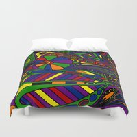 psychadelic Duvet Covers featuring Psychadelic by Groolya