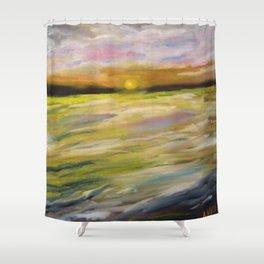 Sunset at Good Harbor Beach Shower Curtain