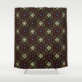 Metallic Deco Wine Shower Curtain